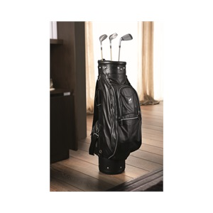 Golf Bag Black Leather By Smania