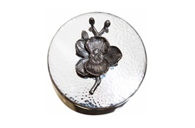 Black Orchid                    Round Trinket Box