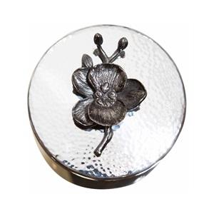 Black Orchid            Round Trinket Box
