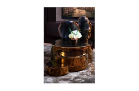 Nives Vase Antique    Brass By Smania