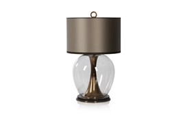 Concave Brass Lamp