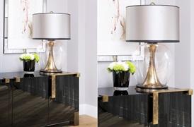 Concave Brass Lamp