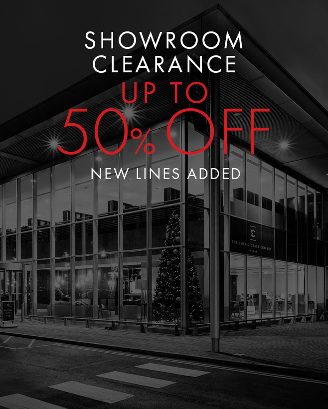 Showroom Clearance - 50% off
