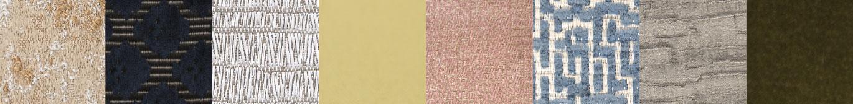Designer's Guild fabrics and wallpaper, Romo fabrics and Jason d'Souza fabrics