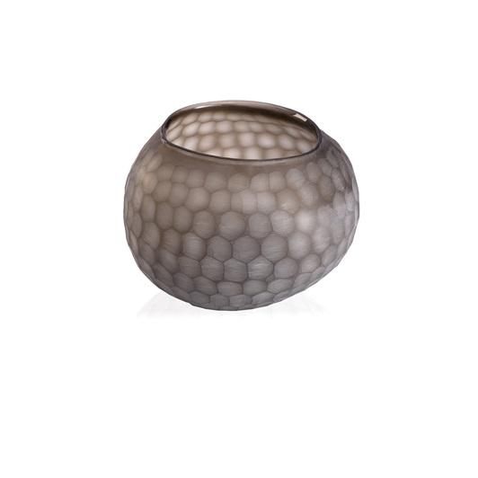 Medium Round Vase - Clear/Smoke Grey