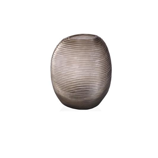 Round Vase - Clear/Smoke Grey
