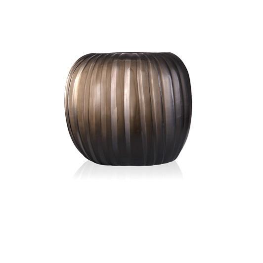 Round Vase - Indigo/Smoke Grey