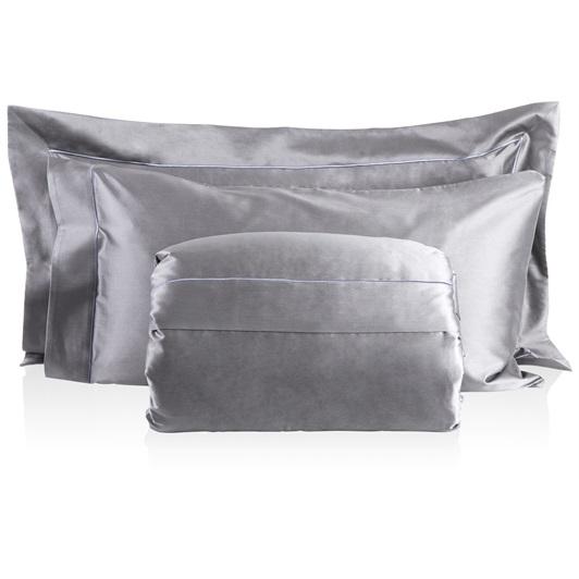 Finibus Embroidery Super-King size Duvet set Grey