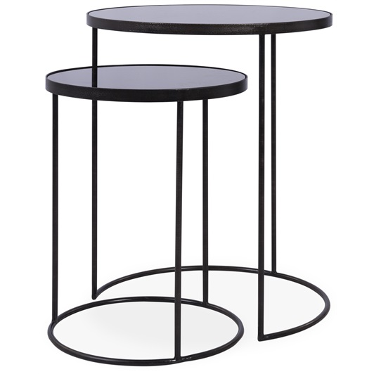Charcoal Nesting Side Tables