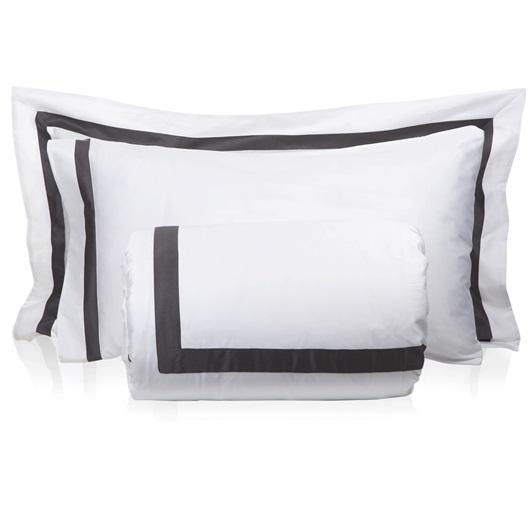 Super-King size Duvet set -White/Grey (Standard Pillowcases 50x75cm)