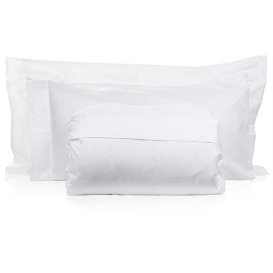 Tempace Jacquard S-King size Duvet set -White (Standard Pillowcases 50x75cm)