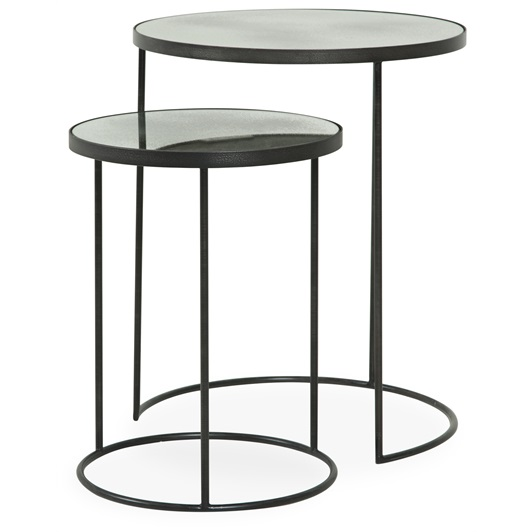 Silver Nesting Side Tables