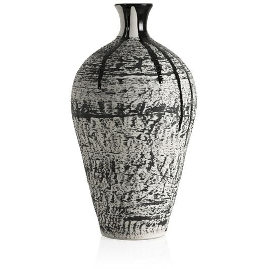 Magma Medium Textured Vase (Black)