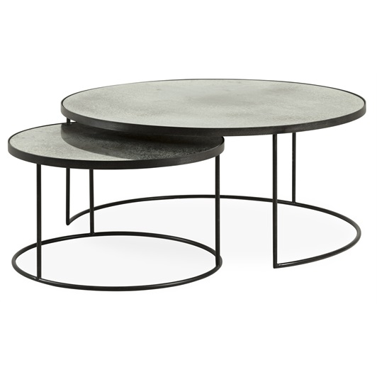 Silver Nesting Coffee Tables