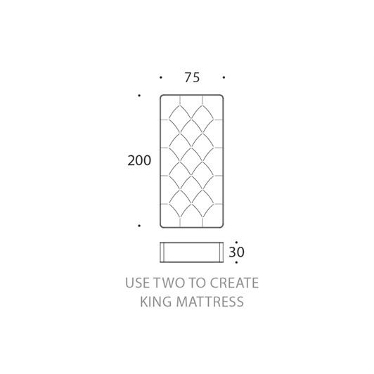 Single -Zip link mattress Regular (king size)