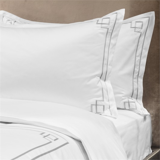 Hera Duvet Set Superking - Metallic Silver