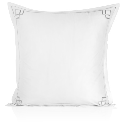 Hera Oxford Pillowcase - Metallic Silver