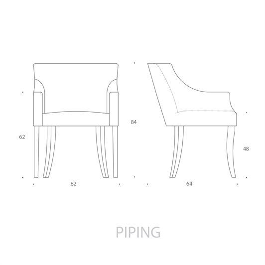 Carver Chair - Piping
