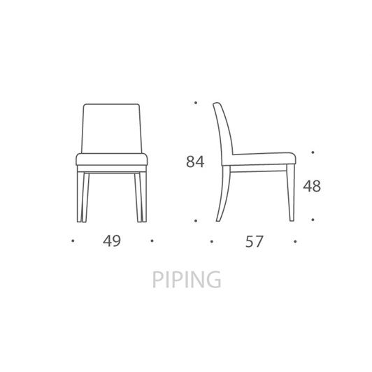 Dining Chair - Piping
