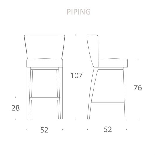 Bar stool 02 - Piping
