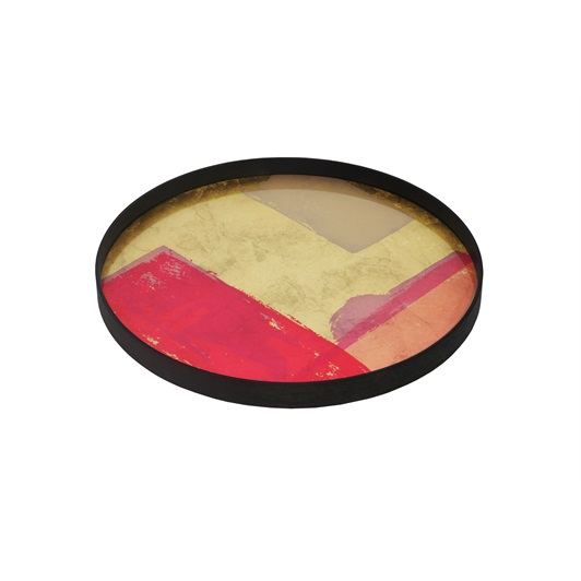 Abstract Medium Tray - Raspberry