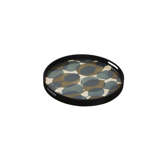 Round Tray - Connected Dots