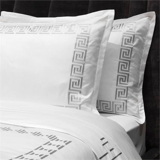 Athena Duvet Set Super King - Metallic Silver