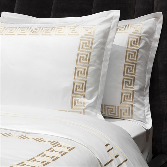Athena Duvet Set Super King - Metallic Stone