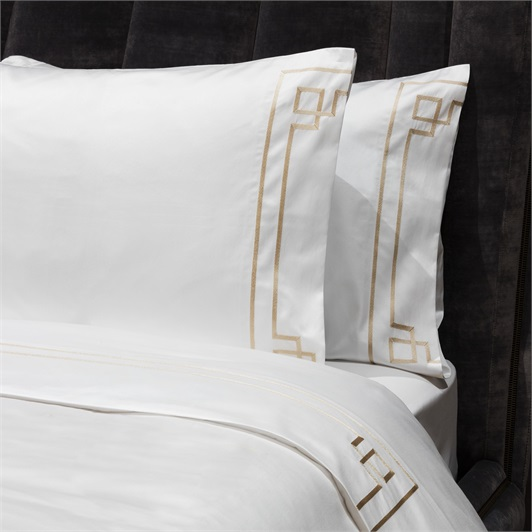 Hera Sheet Set Super King - Metallic Stone