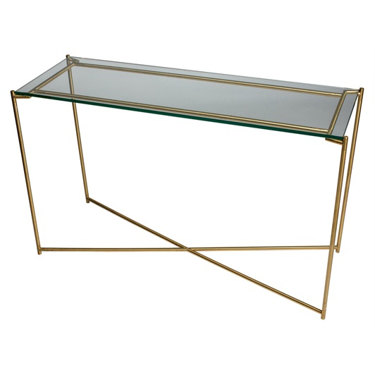 Console - Brushed Brass