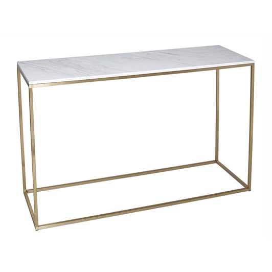 Console - Brushed Brass & Marble top