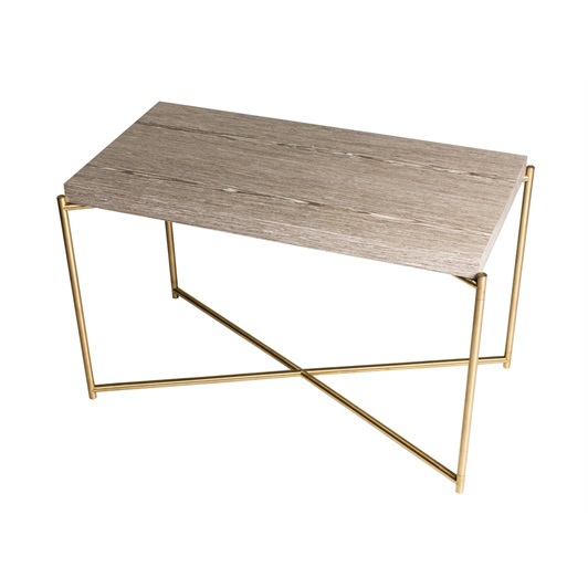 Side Table - Weathered Oak & Brushed Brass