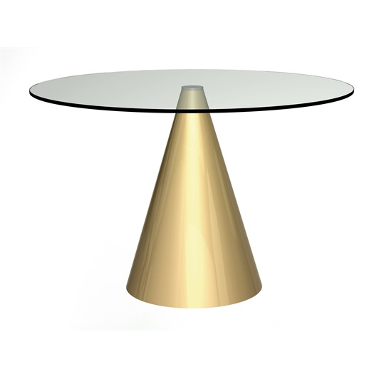 Dining Table - Brushed Brass base & Glass top