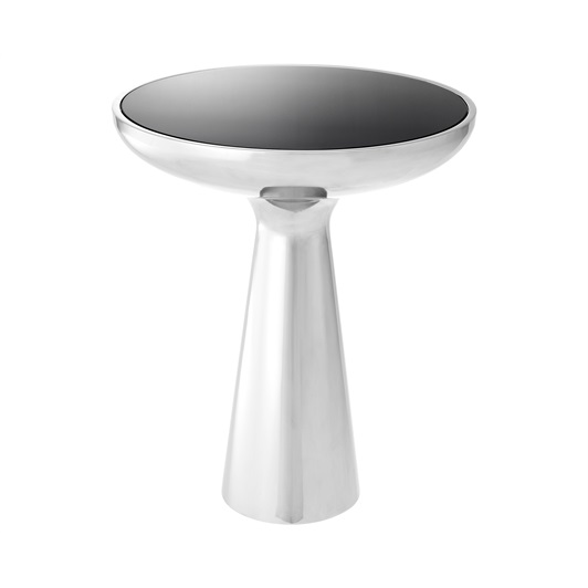 Small Side Table - Polished Stainless Steel