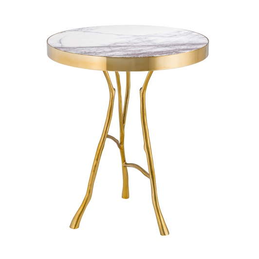 Side Table Gold Finish