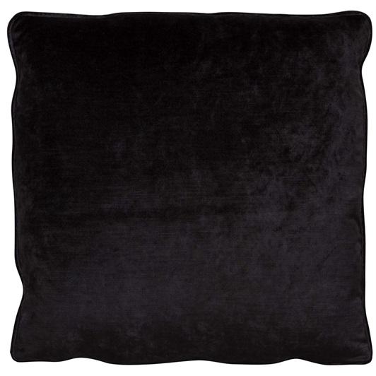 Liquorice piped cushion