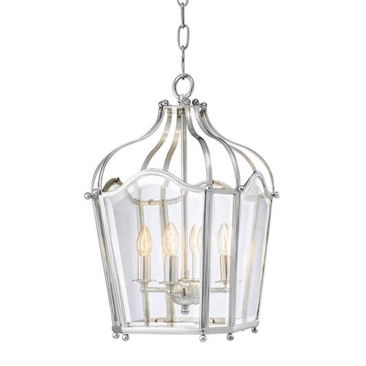 Elysee Lantern Chandelier Silver plated