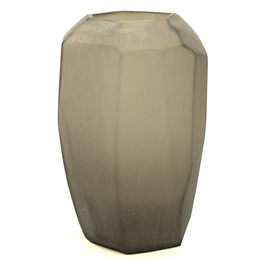 Cubi Vase Smoke Grey, Tall