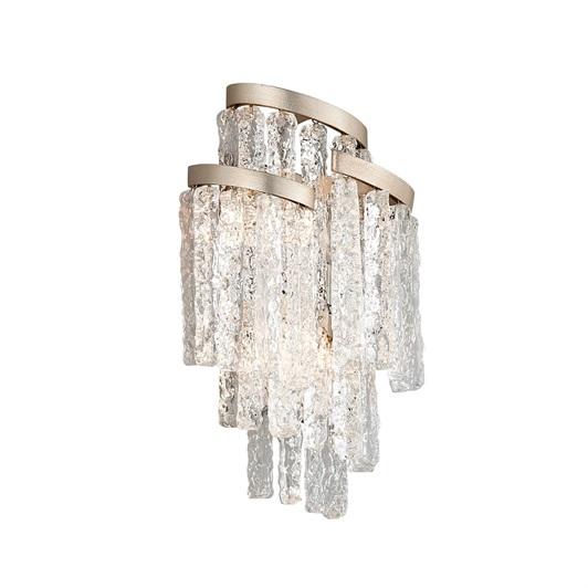 Wall Light - Modern Silver Leaf & Glass