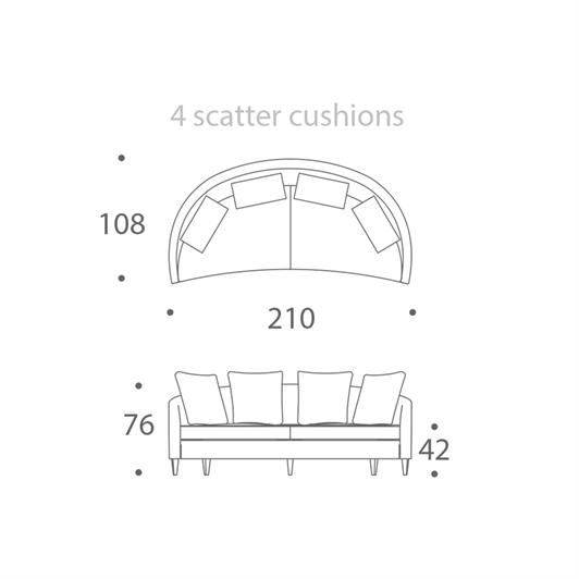 2.5 seater sofa - large