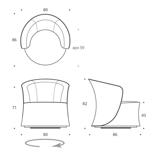 Chair 2 - swivel base