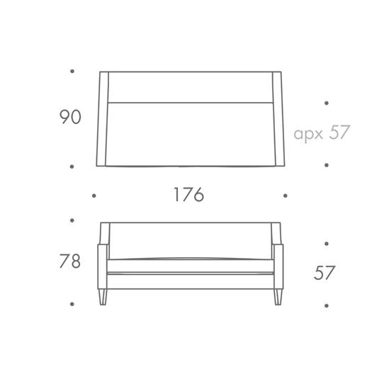 2.5A Seater Sofa - Single Cushion